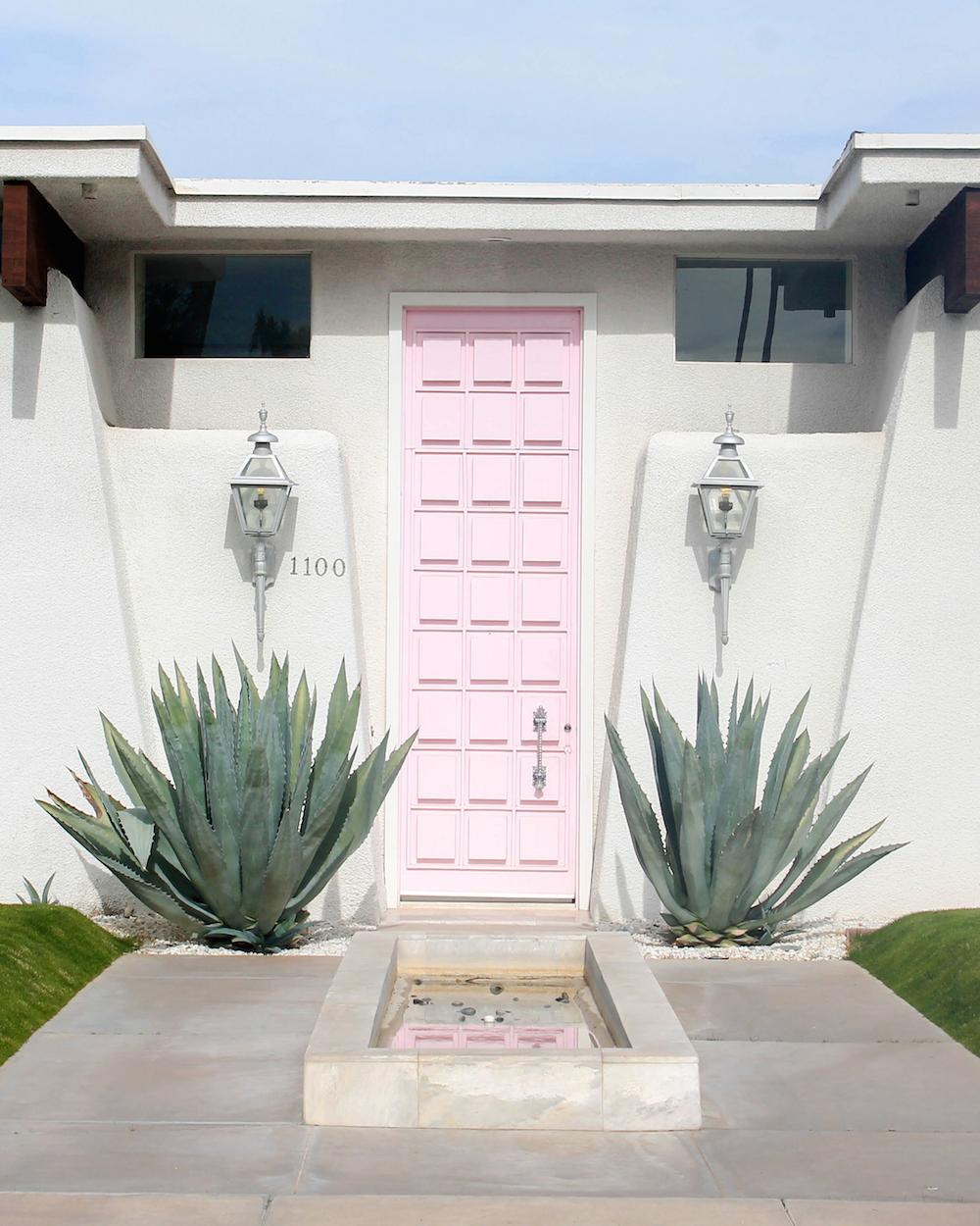 Palm-springs-Porte-rose